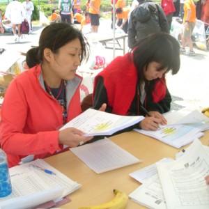 完走証をボランティアで手書きしました。