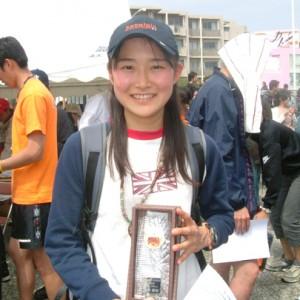入賞者の水谷さん。笑顔が素敵です。