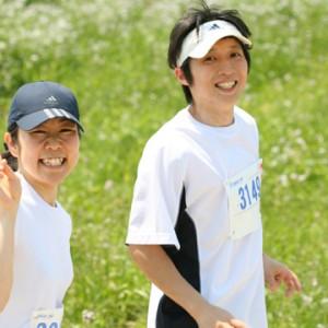 心地よい運動で爽やかな笑顔。