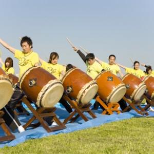 スタート&ゴールは和太鼓で盛り上げ!